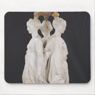 Graces, funerary monument with heart of Henri Mouse Pad