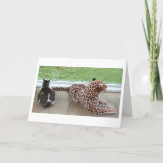 Gracey and Lazy Leopard card