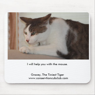Gracey, The Tiniest Tiger Mouse Pad