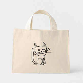 Gracey's Happy Cat Tote Bags