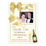 Gracias 50.o regalo del aniversario - tarjeta plan comunicado personalizado