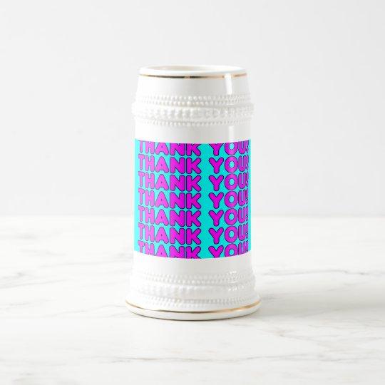 Gracias a ella: Ciánicos rosados femeninos lindos Jarra De Cerveza
