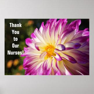 Gracias a la semana de nuestra de las enfermeras póster