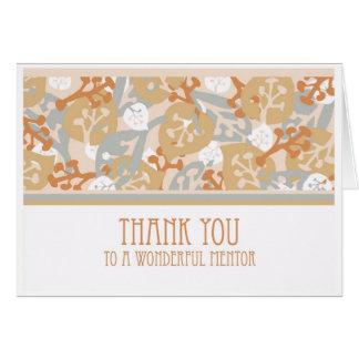 Gracias a la tarjeta de felicitación del mentor, a