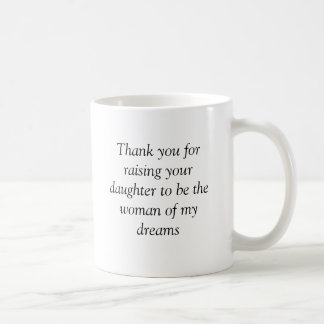 Gracias a los suegros taza básica blanca
