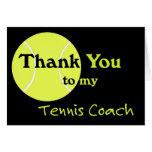 Gracias a mi coche de tenis felicitacion