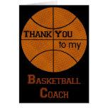 Gracias a mi entrenador de béisbol tarjeton