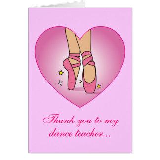 Gracias a mi profesor de la danza: Zapatos de Tarjeta De Felicitación