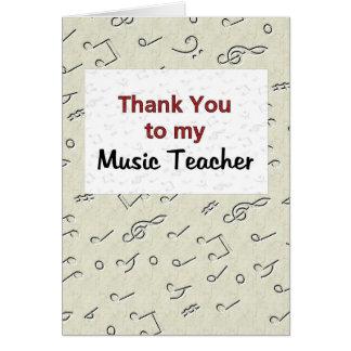 Gracias a mi profesor de música tarjeta de felicitación