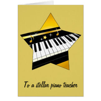 Gracias a mi profesor de piano tarjeta de felicitación