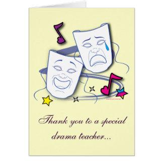 Gracias a mi profesor del drama: Juego Tarjeta De Felicitación