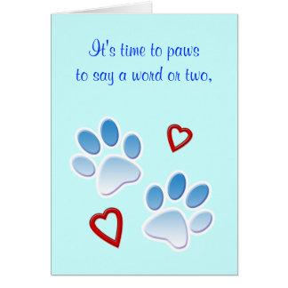 Gracias a un canguro o a un caminante del perro tarjeta de felicitación