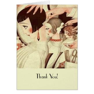 Gracias a un estilista tarjeta de felicitación