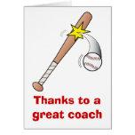 Gracias a un gran entrenador de béisbol felicitacion