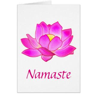 Gracias a un profesor de la yoga con la flor de tarjeta de felicitación