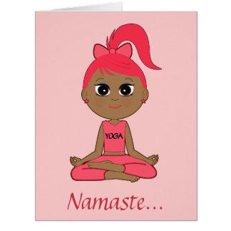 Gracias a un profesor de la yoga tarjeta de felicitación grande