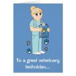 Gracias a un técnico veterinario felicitaciones