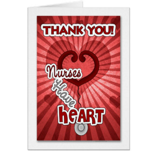 Gracias a una enfermera especial tarjeta de felicitación