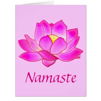 Gracias a una tarjeta grande de la flor de Lotus