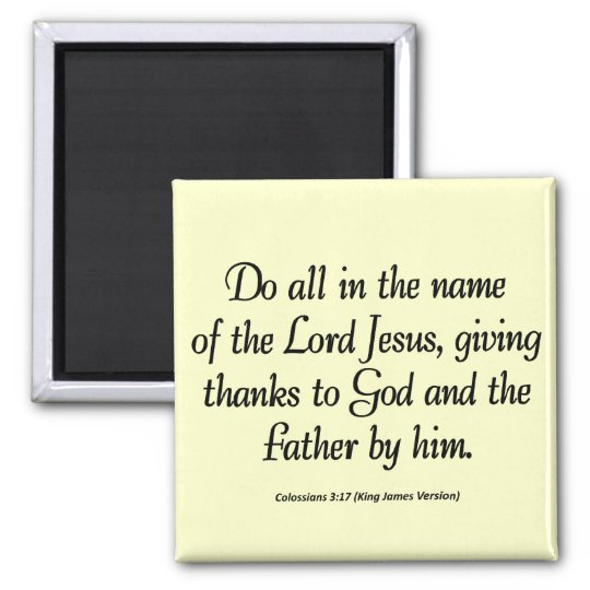 Gracias al 3:17 de Colossians de la acción de grac Imanes