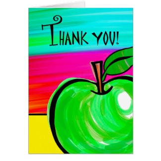 Gracias al profesor, tarjeta de felicitación verde