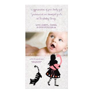 Gracias Alicia en tarjeta de la foto del bebé del Tarjetas Fotográficas