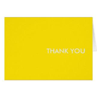 gracias amarillo del coche de los tarjeta-deportes tarjeta pequeña