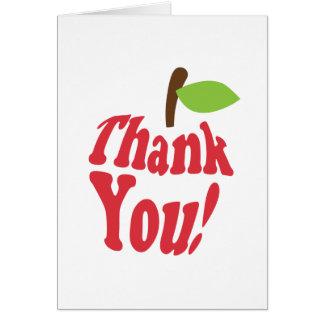 Gracias Apple rojo por el aprecio del profesor Tarjeta De Felicitación