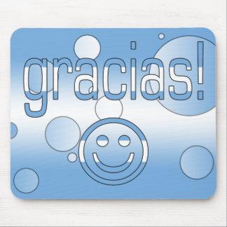 Gracias! Argentina Flag Colors Pop Art Mouse Pad