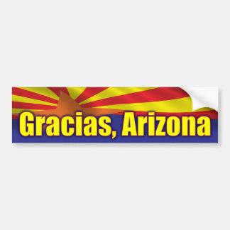 Gracias, Arizona - Support Arizona Bumper Sticker