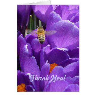 """¡Gracias! """"Azafranes y abeja de la miel """" Felicitación"""