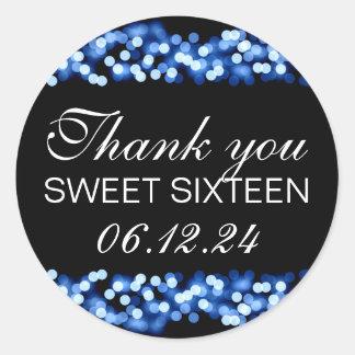 Gracias azul atractivo de Hollywood del dulce 16 Pegatina Redonda