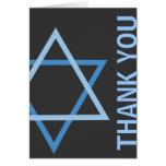 Gracias azul moderno y gris de Mitzvah de la barra Felicitación