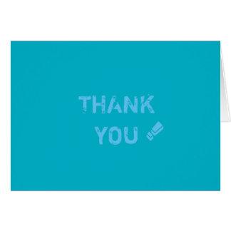 Gracias azul tarjeta-pacífico tarjeta pequeña