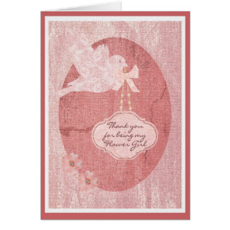 Gracias banquete de boda del florista tarjeta de felicitación
