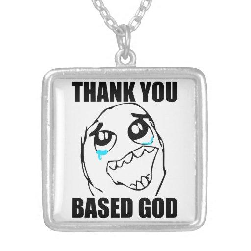 Gracias basó a dios pendiente personalizado
