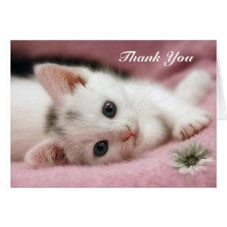Gracias   blanco como la nieve tarjeta de felicitación