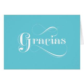Gracias Blue Spanish thank you cards