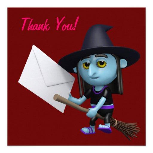¡Gracias! Bruja Lettter de Halloween Comunicados Personales