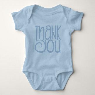 Gracias camiseta del bebé azul playera