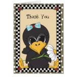 Gracias cantar tarjeta de felicitación