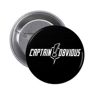 Gracias, capitán Obvious - botón Pin Redondo De 2 Pulgadas