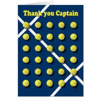 Gracias Captain personalizado Tarjeta De Felicitación