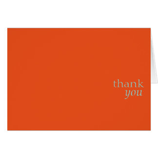 Gracias card.orange tarjeta pequeña