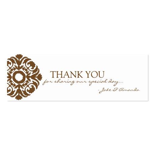 Gracias carda el | LE AGRADECEN -whitebrown Tarjeta De Visita