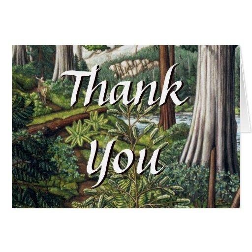 Gracias carda tarjetas de encargo del paisaje cana