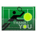 Gracias cardar al jugador de tenis tarjeta pequeña