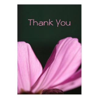 Gracias cardar - Comos y Sun - fotografía floral Tarjetas De Visita Grandes