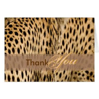 Gracias cardar con la piel del guepardo felicitación