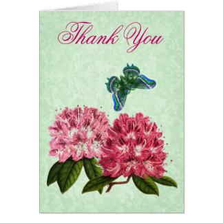Gracias cardar con las floraciones del rododendro  felicitacion